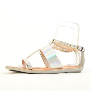 French Connection Shiny Hologram Sandals